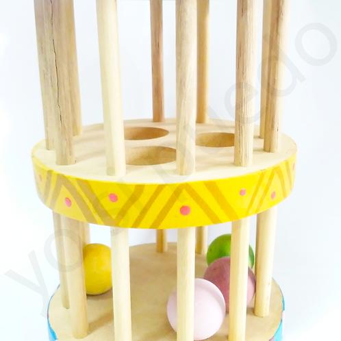 RODARI de Madera Sonaja Música Doble Bebes Estimula el Gateo