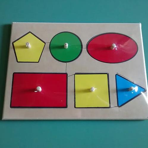 Encastre Formas Geometricas Madera 6 Figuras
