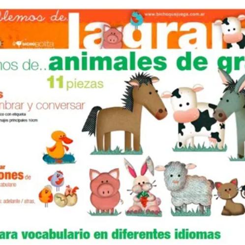 Animales De La Granja O Selva Imantados Didáctico,estimulación 11 Ps