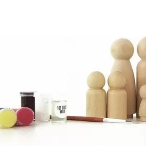 Kit Familia Para Pintar Pegland Madera Waldorf Montessori