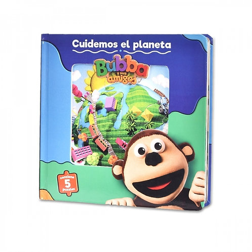 Libro Infantil Cuidemos El Planeta Bubba + 5 Rompecabezas