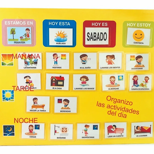 Agenda Visual Diaria +50 Pictos Niños Tea Act. Vida Diaria