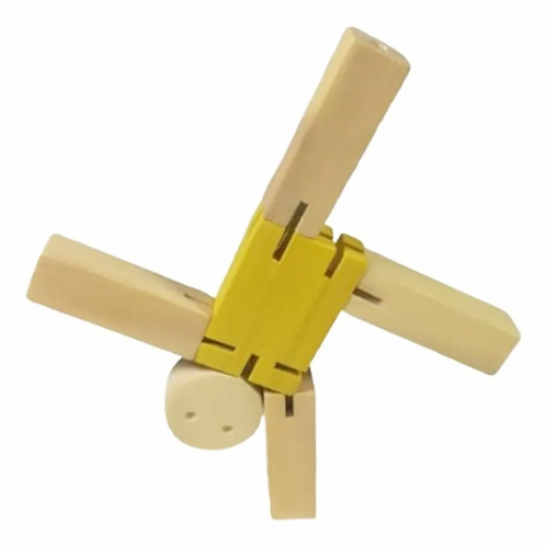 Tipito Robot De Madera Articulado Motricidad 13cm