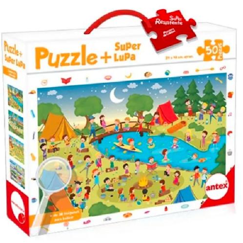 Puzzle Con Lupa 50 Pzs+jgo De Búsqueda Concentración Didácti