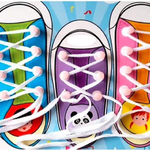 Zapato Para aprender A Atar Cordones Motricidad Fina Montessori