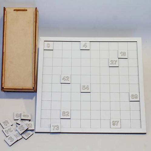 Tabla Didáctica Numérica 0 Al 100 Montessori
