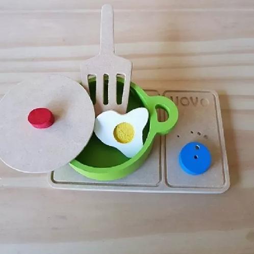 Mini Anafe Cocina De Maderay Accesorios Juego Simbólico