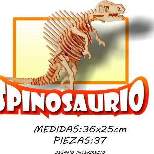 Rompecabezas Maqueta 3d Dinosaurio Spinosaurio Madera