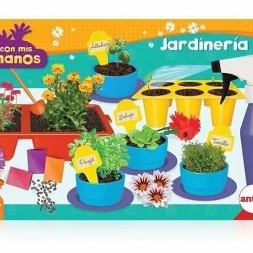 Set Jardinería Juego Didáctico Huerta Macetas Semillas