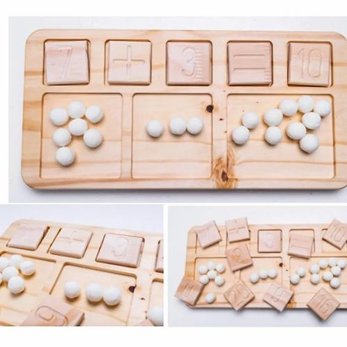 Tabla Números Matematica Suma-resta Didactico Montessori