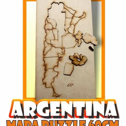 Puzzle Rompecabezas Mapa Argentina 60 Cm