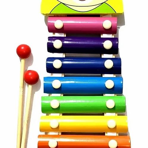 Xilofon Musical Infantil De 8 Notas Grande Madera Y Metal
