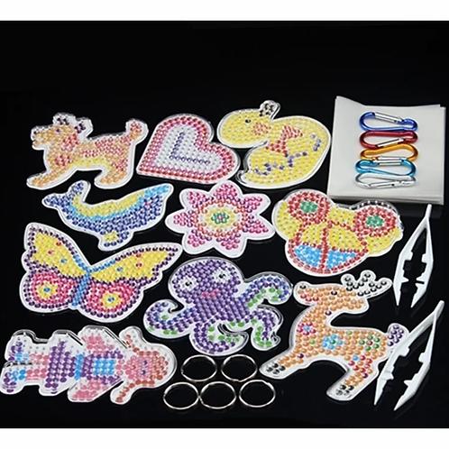 Kit Siluetas De Hama Beads Completo.canutillos+pinza+papel