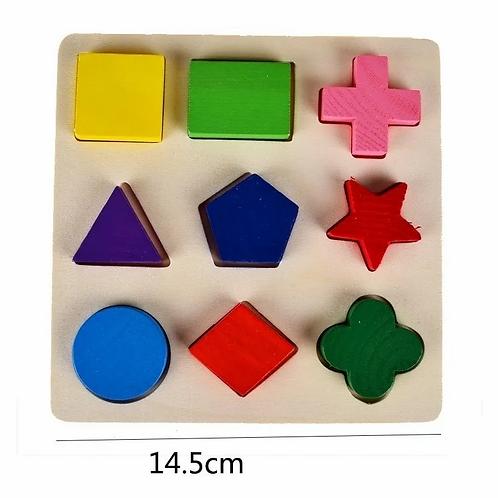 Encastre Madera Figuras Geométricas Pensamiento Lógico Motricidad