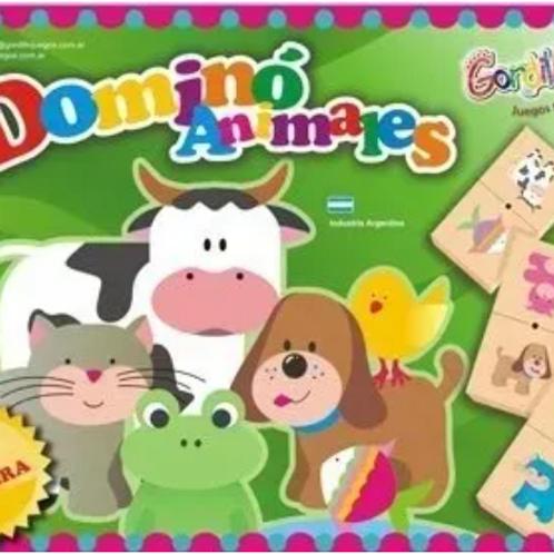 Domino De Animales Madera Didactico Pensam. Lógico Estimulac