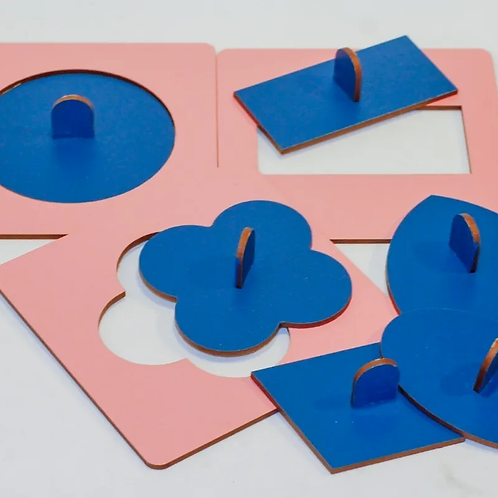 Encastre De Figuras Montessori Madera