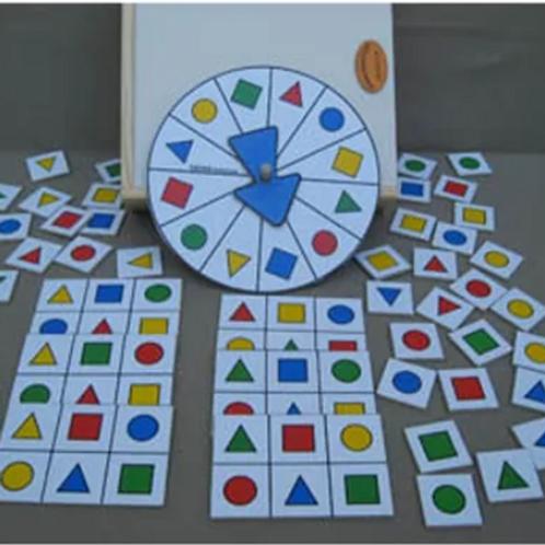 Lotería Forma Color En Madera Didáctica Estimulación