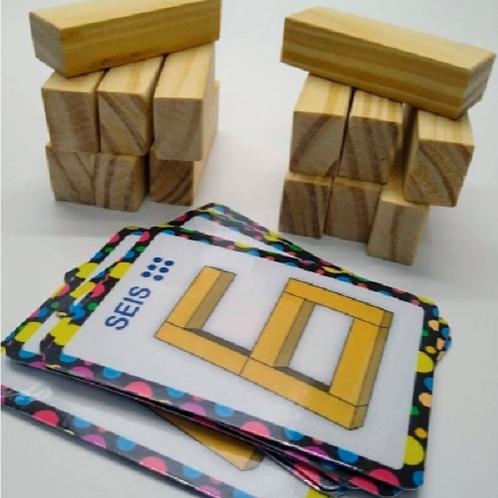 Números En Bloque Maderitas Para Construirlos Lectoescritura