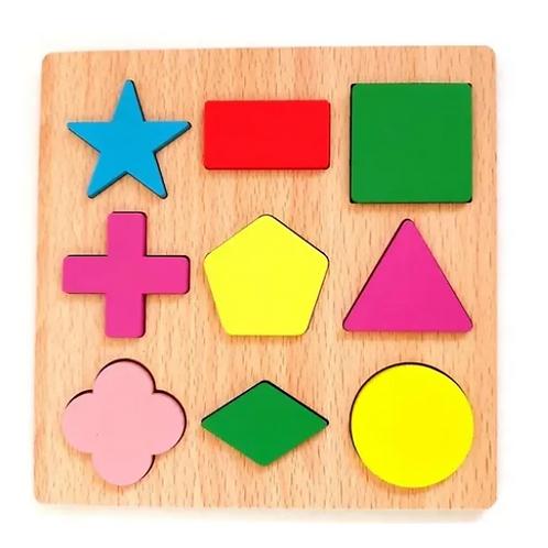 Encastre Madera Figuras Geométricas Pensam Lógico Motricidad