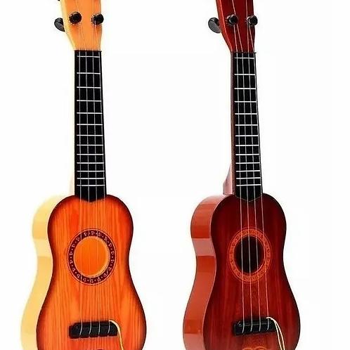 Guitarra Juguete Musical Ukelele Símil Madera Didáctico 42cm