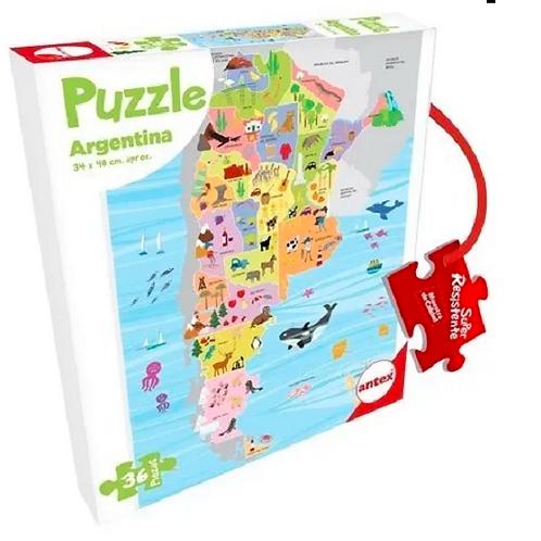 Puzzle Rompecabezas Argentina 36 Piezas