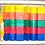 Thumbnail: Cajón Formas Geométricas Didáctico Enhebrado Madera- 30 o 48pzas
