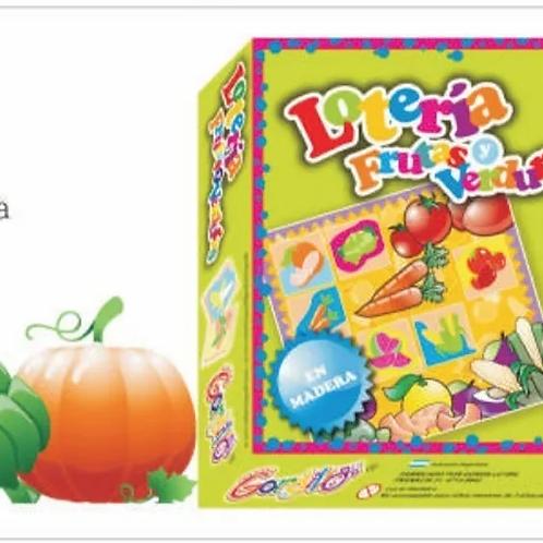 Loteria Tematica (animales/frutas/transportes/figuras/forma y color
