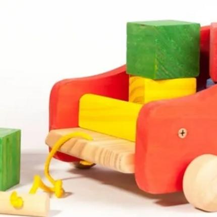 Bloques Cubos Madera Sin Pintar Y Pintados 15 Pzs Montessori