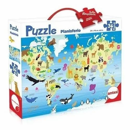 Puzzle Rompecabezas 36 Piezas Planisferio De Piso