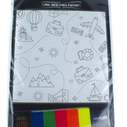 Kit Mil Ideas Para Pintar Con Pasta Waldorf Flúo + Láminas