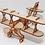 Thumbnail: Rompecabezas Maqueta En Madera Avión Biplano 3d
