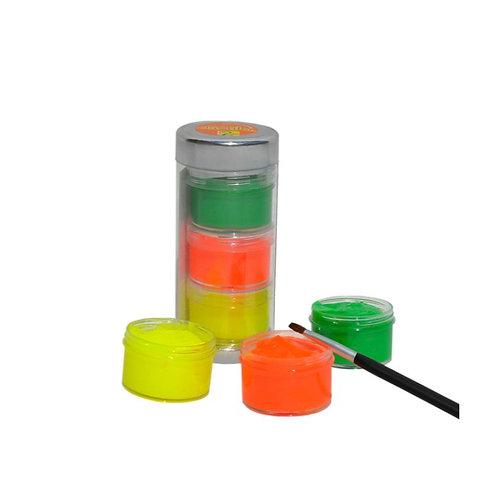 Dactilo Pintura De Colores Puros Tubo X6 + Pincel Didácticas