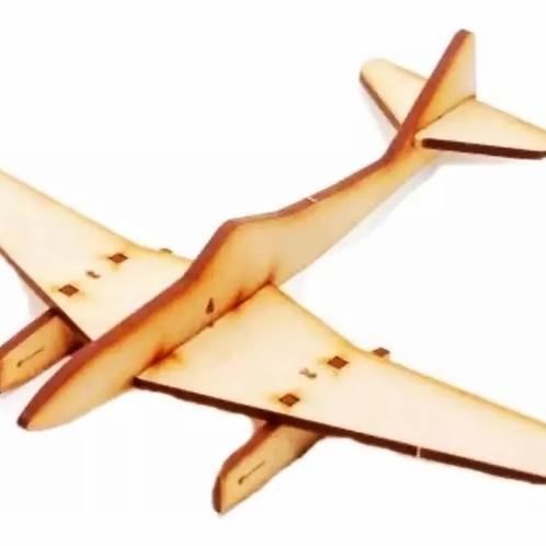 Maqueta Rompecabezas 3d Avión En Madera