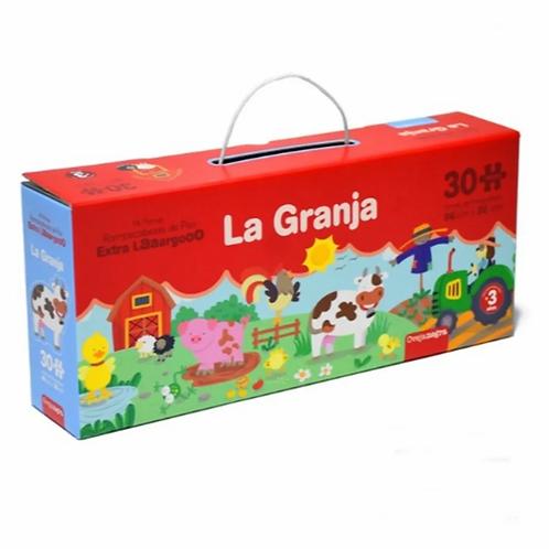 Puzzle Rompecabezas La Granja De Piso XXL 30 Pzs 96x20cm