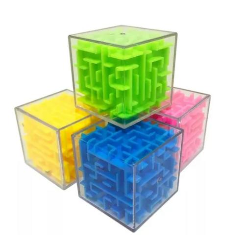 Laberinto Cubo Mágico 3d Juego De Ingenio Motricidad Didácti