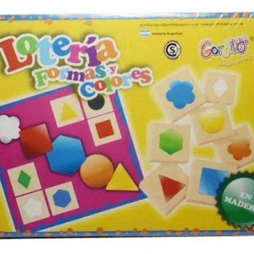 Lotería Madera Juego De Asociación-forma-color Estimulación
