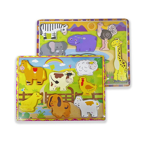 ENCASTRE CON RELIEVE ANIMALES