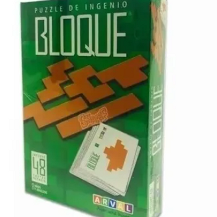 Puzzle Ingenio Bloque 48 Cartas Didáctico Pensam. Lateral