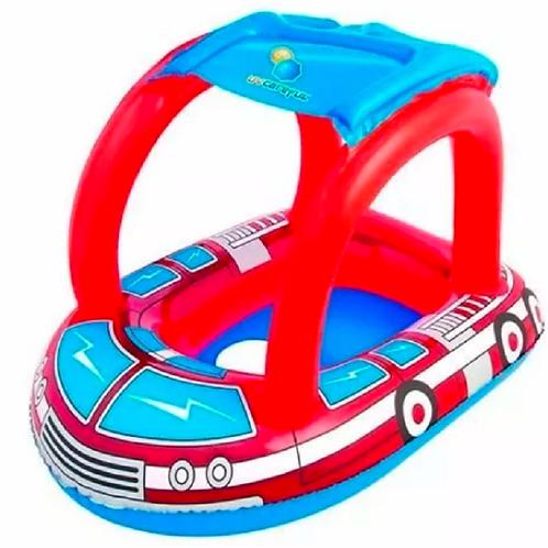 Asiento Flotador Bote Inflable Bebes Con Techo Protección Uv