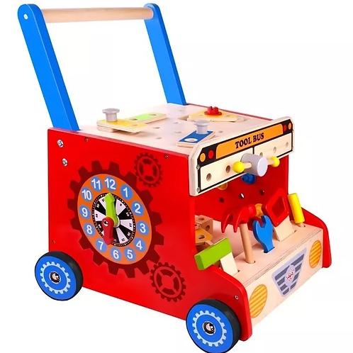 Camión Caminador Taller De Herramientas De Madera Juguete