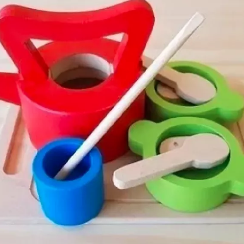 Juego De Mate Infantil Madera Montessori