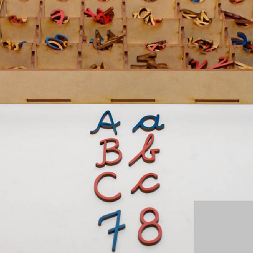 Alfabeto Montessori cursiva