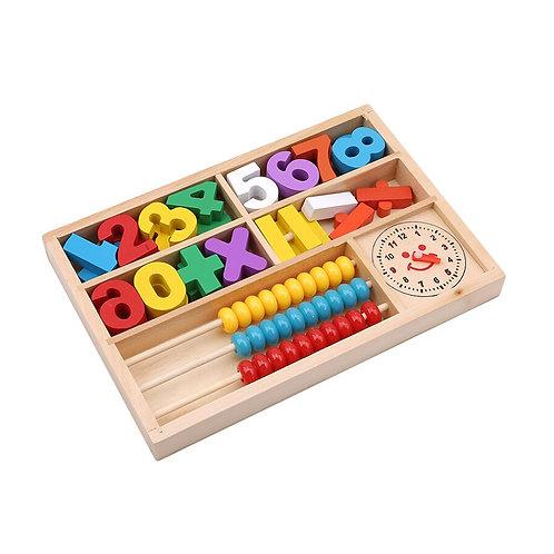 Juego Didáctico De Madera Números Reloj Ábaco Matemática