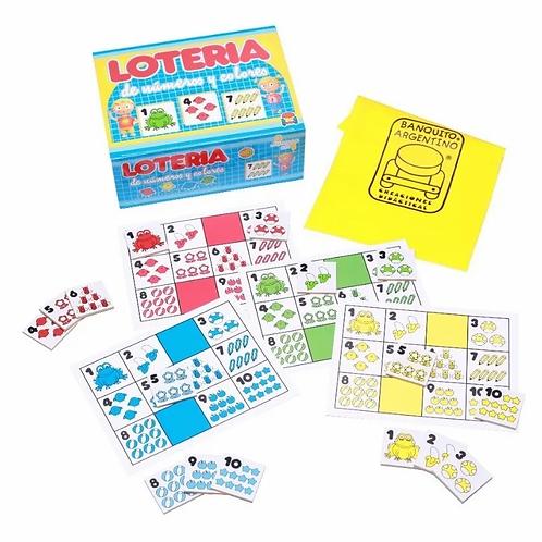 Juego Lotería De Números Y Colores Fichas De Madera