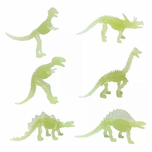 Dinosaurios Fluorescentes Brillan Oscuridad Mesa Lumínica