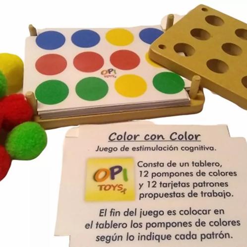 Juego De Estimulacion Orden Color Motricidad Color Con Color
