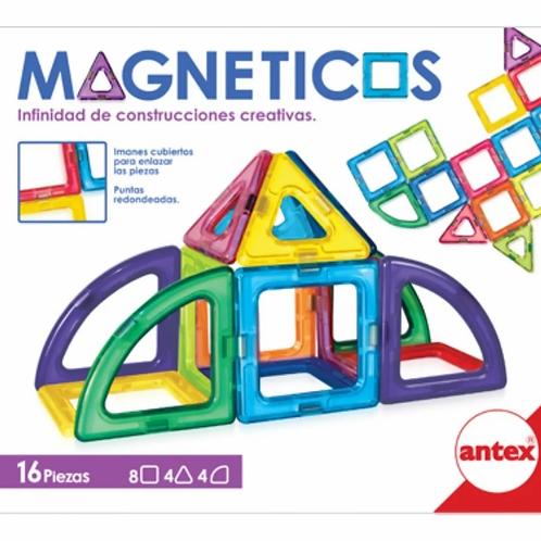 Juego De Bloques Magneticos 16 Pzas Iman Construcciones