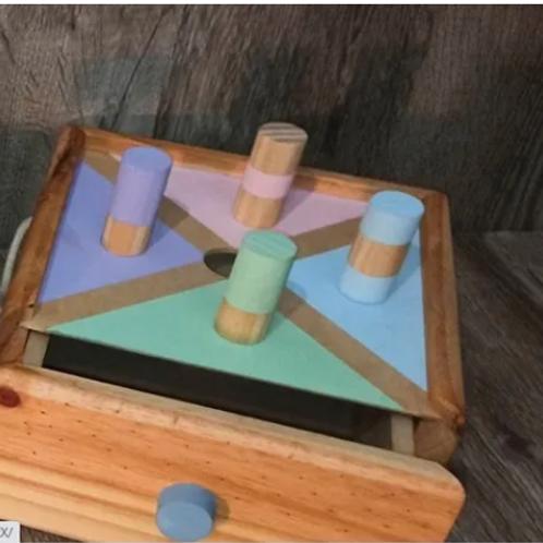 Caja De Permanencia Montessori Encastre Madera Estimulación