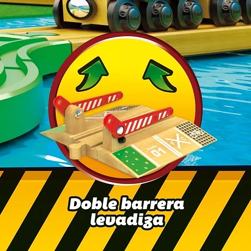 Trencity Paso A Nivel Barrera De Madera Compatible Con Pista