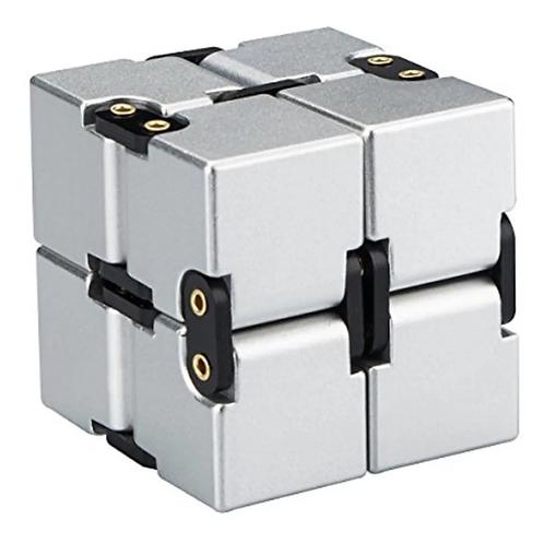 Cubo Infinito Articulado Infinity Cube Antiestres Metalizado